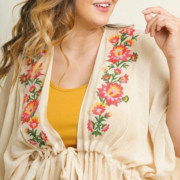 Tops - Tie Kimono